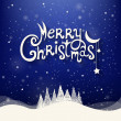 Christmas Greeting Card. Merry Christmas lettering. — Imagen vectorial
