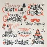 Christmas gratulationskort. Merry christmas bokstäver — Stockvektor  #35784995