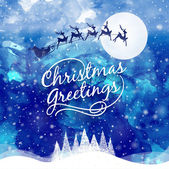 Christmas Greeting Card. Merry Christmas lettering. — Vetorial Stock