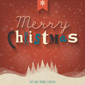 Christmas Greeting Card. Merry Christmas lettering. — ストックベクタ