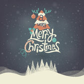 Christmas Greeting Card. Merry Christmas lettering. — Stock Vector