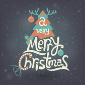 Christmas Greeting Card. Merry Christmas lettering — Cтоковый вектор