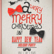 Christmas Greeting Card. Merry Christmas lettering — Vettoriali Stock