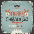 Christmas Greeting Card. Merry Christmas lettering — Vektorgrafik
