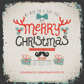 Christmas Greeting Card. Merry Christmas lettering — Wektor stockowy