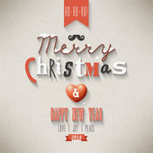 Christmas Greeting Card. Merry Christmas lettering — Stockvektor