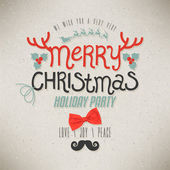 Christmas Greeting Card. Merry Christmas lettering — Vecteur