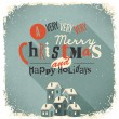 Christmas Greeting Card. Merry Christmas lettering — Imagen vectorial