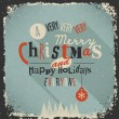 Christmas Greeting Card. Merry Christmas lettering — Stockvectorbeeld