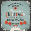 Christmas Greeting Card. Merry Christmas lettering — Grafika wektorowa