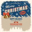 Vintage christmas poster — Stock Vector