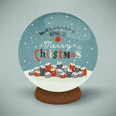 Christmas Greeting Card. Merry Christmas lettering. — Stock vektor