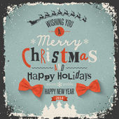 Christmas Greeting Card. Merry Christmas lettering — Stockvector