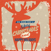 Christmas Greeting Card. Merry Christmas lettering — Vetorial Stock