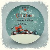 Cartão de natal. letras de natal feliz — Vetorial Stock