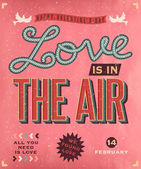 Romantic retro style poster — Vetorial Stock