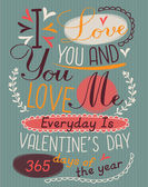 Vintage valentine's day poster — Stock Vector