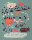 Vintage aftelkalender voor valentijnsdag-poster — Stockvector