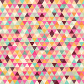 Retro vzor geometrických tvarů — Stock vektor