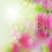 Bright mosaic spring background — Stok Vektör