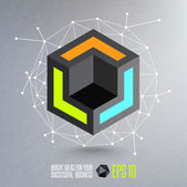 Abstract geometric vector illustration — Stok Vektör