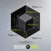 Abstract geometric vector illustration — Stock Vector