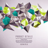 Abstract geometric vector illustration — Vettoriale Stock