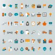 Set of flat design concept icons — Vector de stock