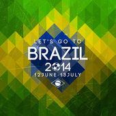 Brasilien dreieck hintergrund — Stockvektor