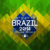 Brazil triangle background — Vettoriale Stock