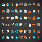 Flaches design-icon-set. — Stockvektor