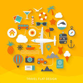 Travel flat design — Stock Vector