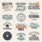 Back to School Calligraphic Design — Vector de stock