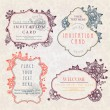 Invitation cards with a floral pattern — Stock Vector #6679017