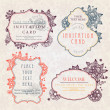Invitation cards with a floral pattern — Vecteur #6679017