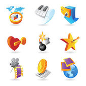 Icons for leisure — Stock Vector