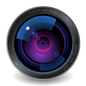 Icon for camera lens — Stock Vector