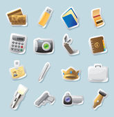 Sticker icons for personal belongings — Stock Vector