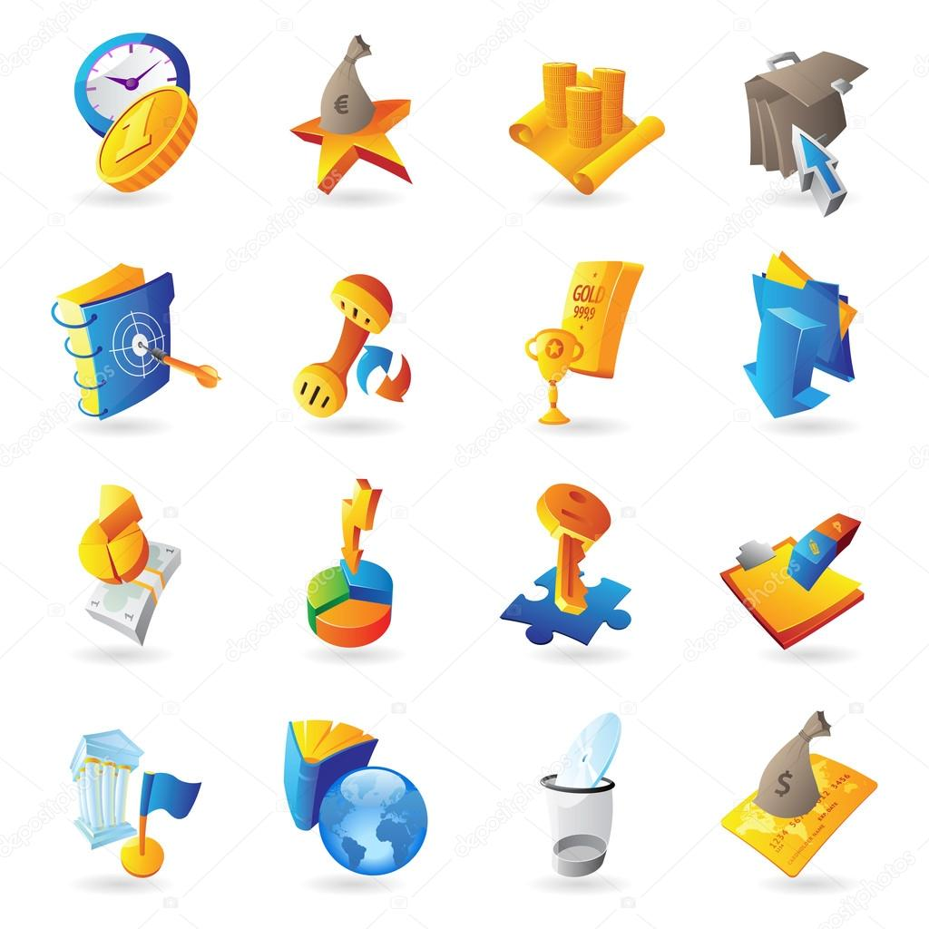 Icons for business and finance. Vector illustration. — Stock Vector #12593239