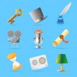 Retro icons — Stock Vector #12951674