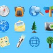 Icons for backpacking — Imagen vectorial