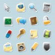 Sticker icons for signs and interface — 图库矢量图片