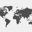 World map — Imagen vectorial