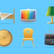 Icons for home — Stockvectorbeeld