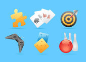 ícones para jogos, lazer e jogos de azar — Vetorial Stock