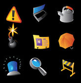 Icons for interface — Stock Vector
