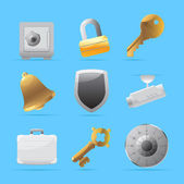 Ícones para segurança — Vetor de Stock