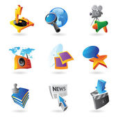 Icons for media — Stock Vector