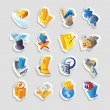 Icons for business and finance - Grafika wektorowa
