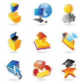 Icons for science and education — Stock Vector